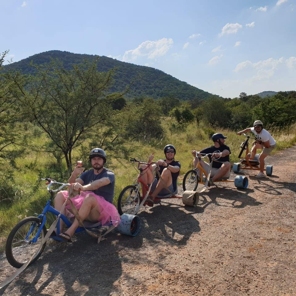 Adventure teambuild activities down hill drift trike rides south Africa Durban Johannesburg ballito spanbou teambuild corporateteambuilding