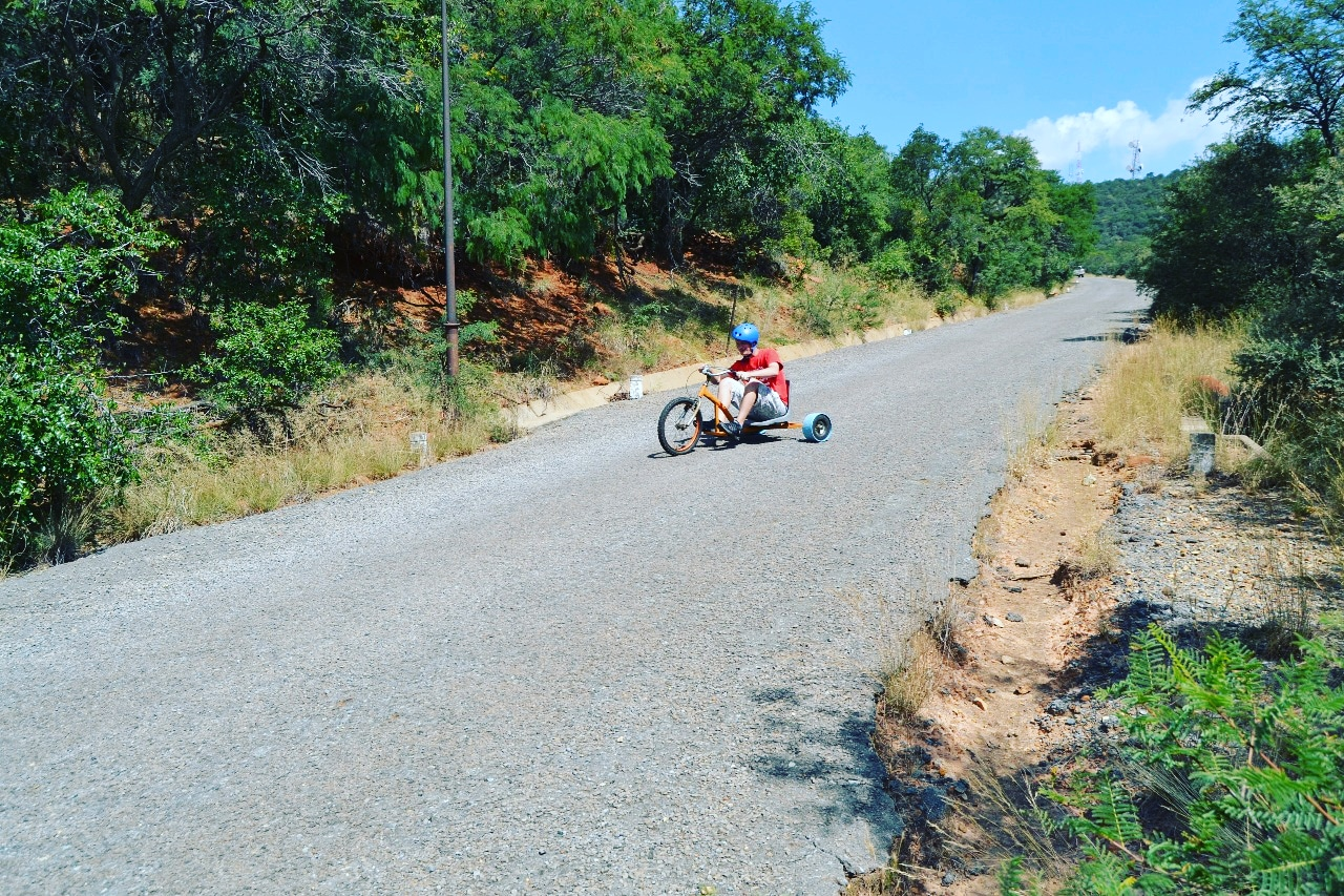 Down hill drift trike rides adventure teambuild activities teambuilding spanbou corporate teambuild south Africa